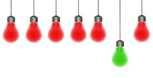 Glowing Special Light Bulbs Royalty Free Stock Image