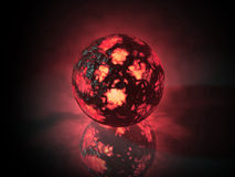 Glowing sphere object filled with energy. Glowing shpere of energy render Royalty Free Stock Images