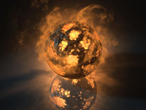 Glowing sphere object filled with energy Stock Image