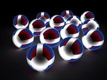 Glowing spheres Royalty Free Stock Photography