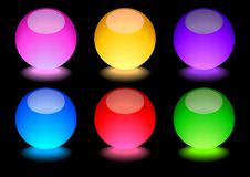 Glowing Spheres Stock Photography