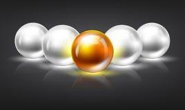 Glowing spheres Stock Photo