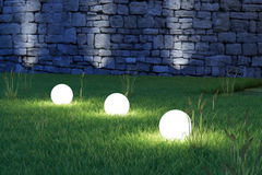 Glowing spheres high angle Stock Photos