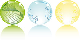 Glowing spheres with white background Stock Photography