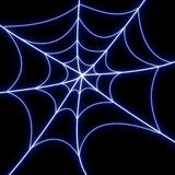 Glowing spider web Royalty Free Stock Photography