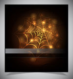 Glowing spider web on a dark background Royalty Free Stock Image