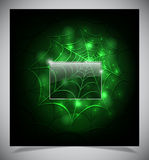 Glowing spider web on a dark background Royalty Free Stock Photography