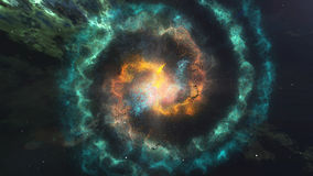 Glowing Spiral Of Nebula Galaxy In The Space. Royalty Free Stock Photo