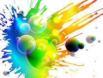 Glowing splash, vector Stock Images