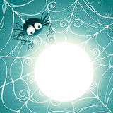 Glowing spooky spider web Stock Photos