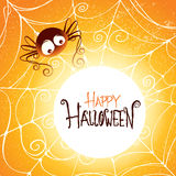 Glowing spooky spider web Stock Photo