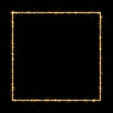 Glowing Square frame Royalty Free Stock Images