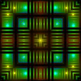 Glowing squares Royalty Free Stock Photos