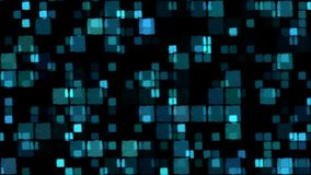 Glowing Squares Background - Loop, Blue Stock Photo