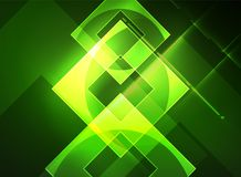Glowing squares in the dark, digital abstract background Royalty Free Stock Images