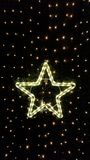 Glowing Star. In the dark royalty free stock images