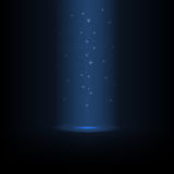 Glowing star dust pours from above. Glowing star dust falls from above on the glowing scene Royalty Free Stock Images