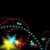 Glowing Star Fireworks Background. An image of a glowing star fireworks background Stock Images