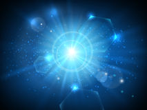 Glowing star in space background Royalty Free Stock Image
