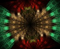 Glowing stargate in space, computer generated abstract background. Galactic lace fractal. Travel interstellar mandala distant universe flame hole astrology sci royalty free illustration
