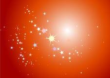 Glowing stars Stock Image