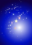 Glowing stars Stock Photos