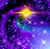 Glowing stars Royalty Free Stock Photos