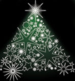 Glowing stars christmas tree Royalty Free Stock Photography