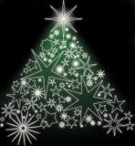 Glowing stars christmas tree Royalty Free Stock Photography