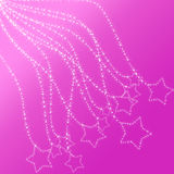 Glowing stars on glowing lace Royalty Free Stock Photography