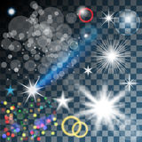 Glowing stars, and sparkles Stock Photography