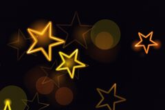 Glowing Stars Stock Image In Black Background