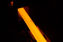 Glowing steel bar Stock Image