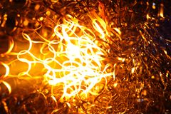 Glowing steel wool Royalty Free Stock Images