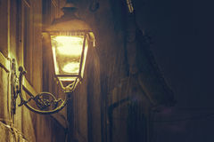 Glowing street lamp Royalty Free Stock Image