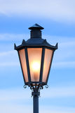 Glowing streetlight, San Marino (Italy) Royalty Free Stock Image