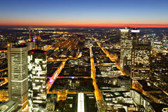 Glowing Streets of Frankfurt stock photography