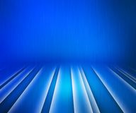 Glowing Stripes Blue Stage Background Stock Photo
