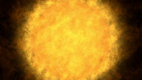 Glowing Sun, solar flare, global warming Royalty Free Stock Image