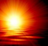 Glowing sunset Stock Image