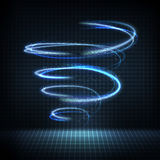 Glowing swirl with distorted lines, bright sparkles vector illustration