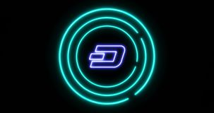 Digital lock concept of denying access with Dash DASH cryptocurrency symbol royalty free illustration