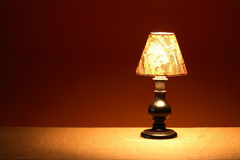 Glowing Table Lamp Stock Images
