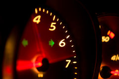 Glowing Tachometer Royalty Free Stock Photo