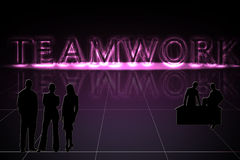 Glowing Teamwork Stock Images