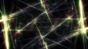 Glowing tech background, fractal lines stock footage