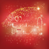 Glowing text of merry christmas Royalty Free Stock Image