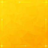 Glowing thread frame on orange triangular background Stock Photos