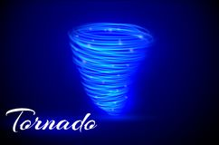 A glowing tornado. Rotating wind. Beautiful wind effect. Isolated on a transparent background. Vector illustration.  Royalty Free Stock Photos