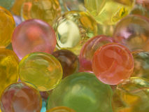 Glowing translucent colored balls Stock Images